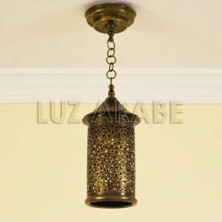 Lampade marocchine forma cilindrica in ottone traforato