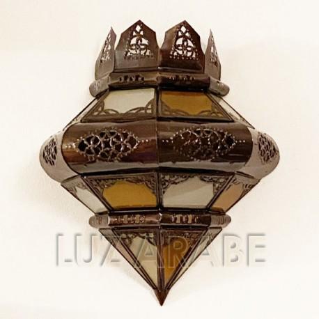 Aplique corona con arcos de cristal y forja calada - Frental