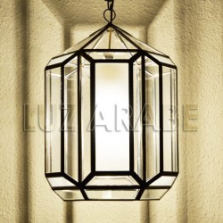 Granadian ceiling lamp Nevada of transparent and translucent glass
